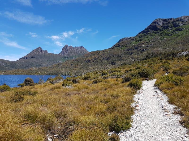 Национальный парк Тасмания Австралия горы вашгерда стоковая фотография rf