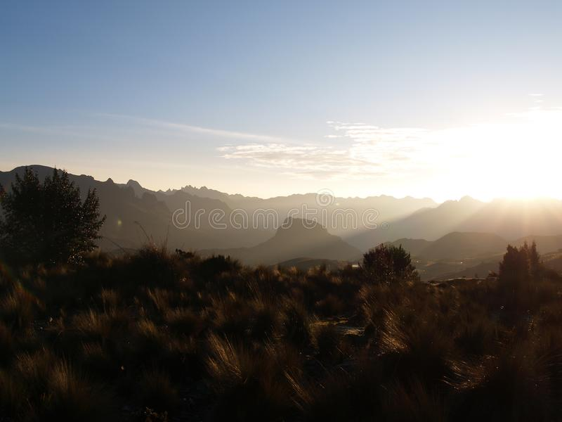 Национальный парк Cajas стоковая фотография