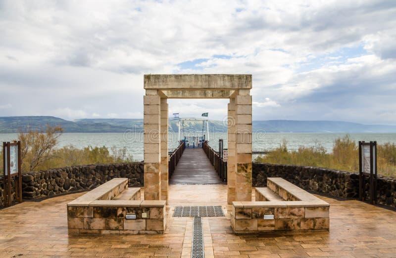 Национальный парк Kfar Nahum Capernaum, море Галилеи, Израиля стоковые изображения