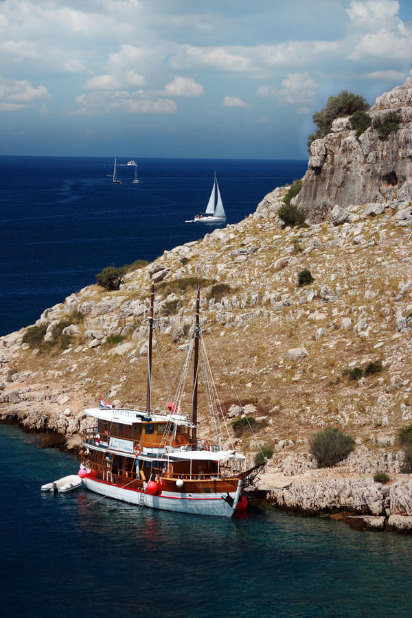 национальный парк kornati Хорватии стоковое фото