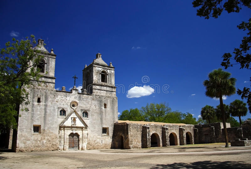 национальный парк san исторических миссий antonio стоковые фото