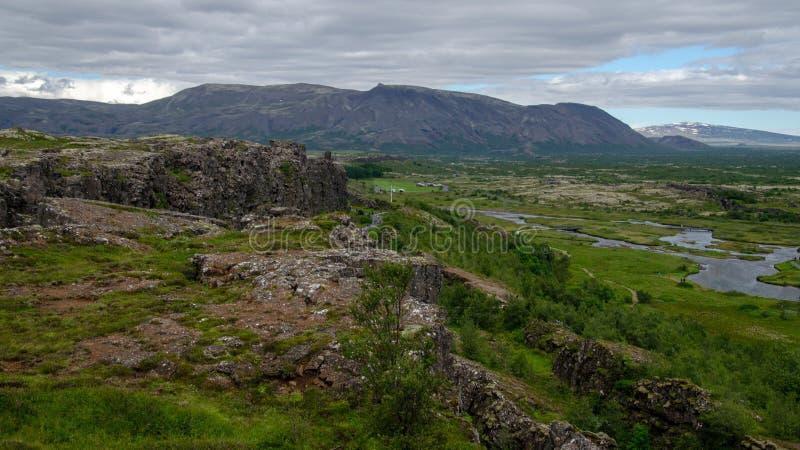 Национальный парк Thingvellir - Þingvellir, Исландия август 2018 стоковое изображение