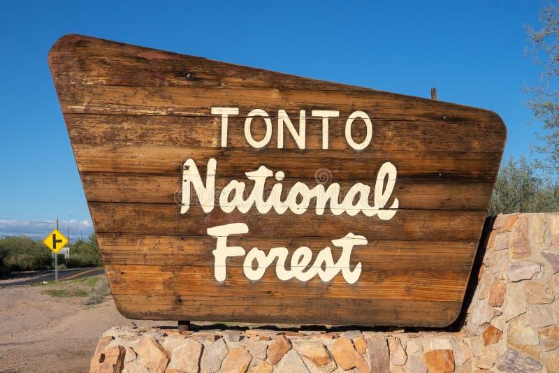 Национальный парк Tonto туризма перемещения подписывает внутри AZ стоковые изображения