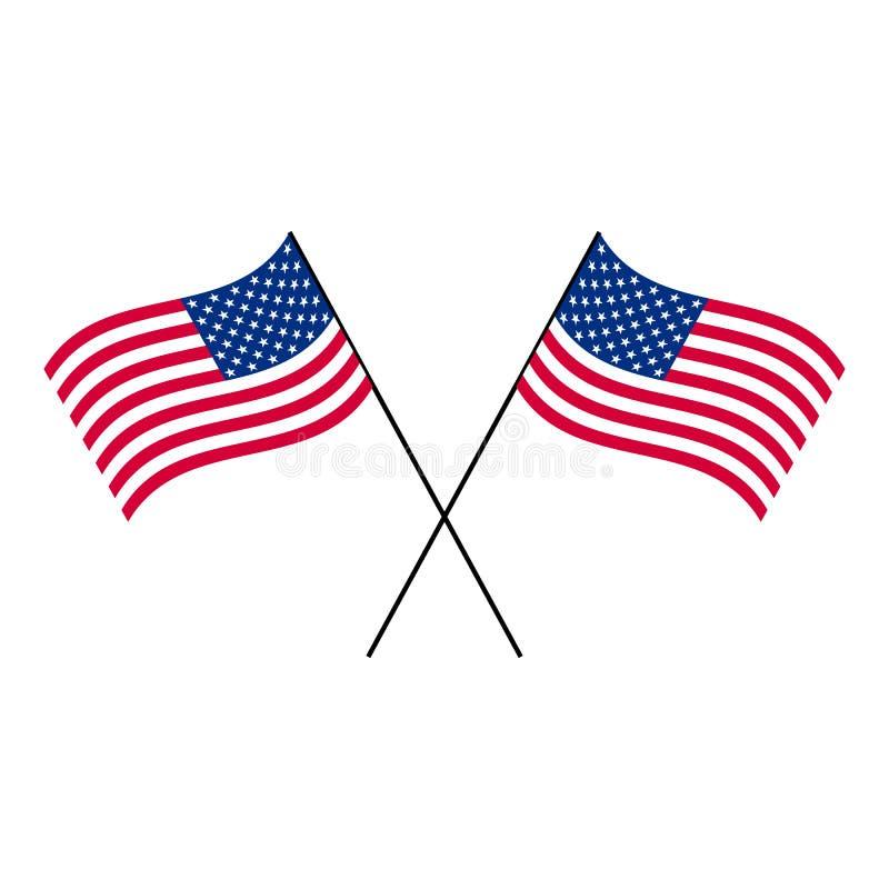 Национальный политический флаг США должностного лица бесплатная иллюстрация