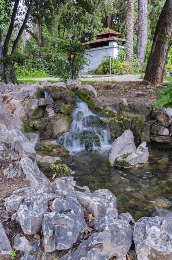 Национальный сад общественный парк в центре города Афина стоковое фото