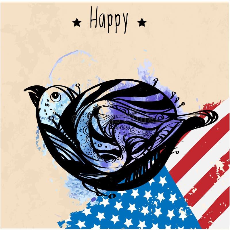 Национальный символ США иллюстрация вектора