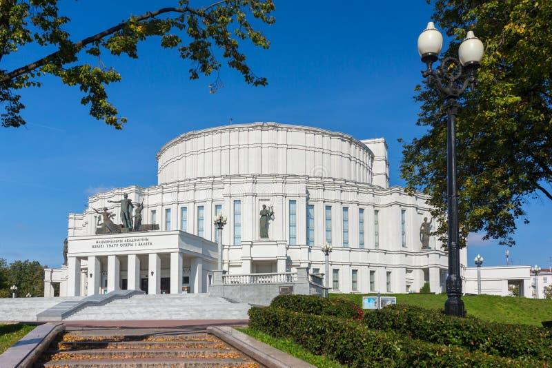 Национальный театр оперы и балета Беларуси стоковые фотографии rf