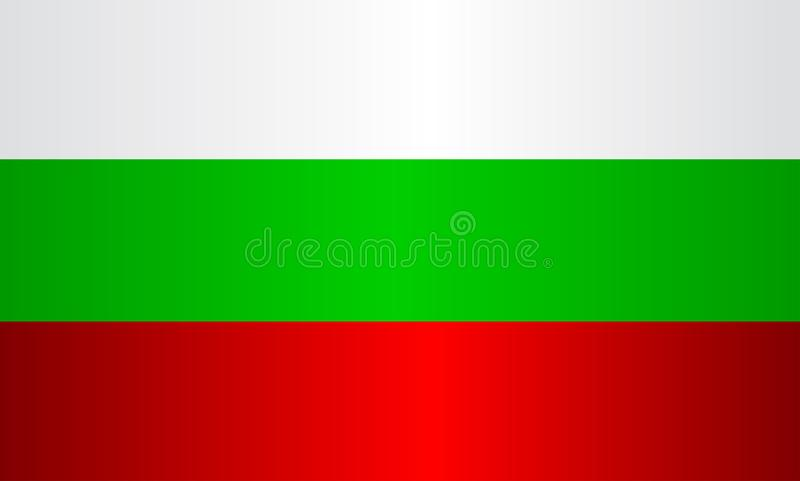 Национальный флаг Бугарски иллюстрация штока