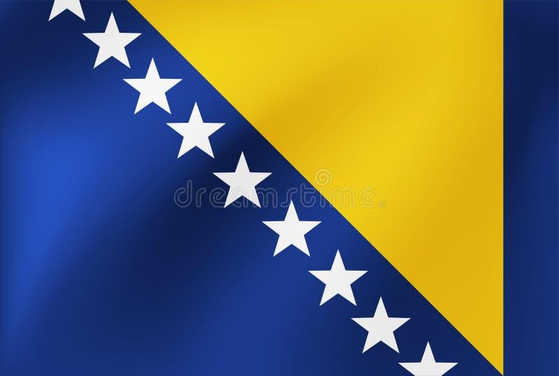 Национальный флаг вектора Боснии и Герцеговины Иллюстрация для событий конкуренции спорт, традиционных или государства бесплатная иллюстрация