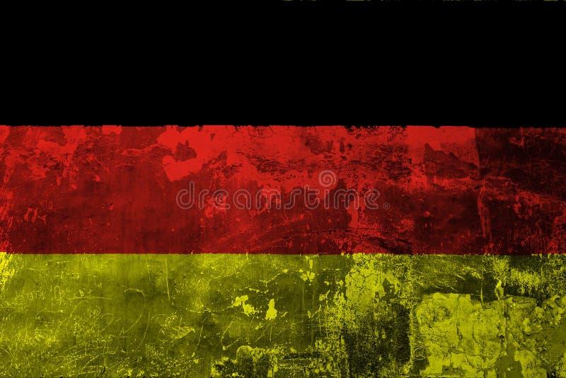 Национальный флаг Германии на предпосылке старой стены бесплатная иллюстрация