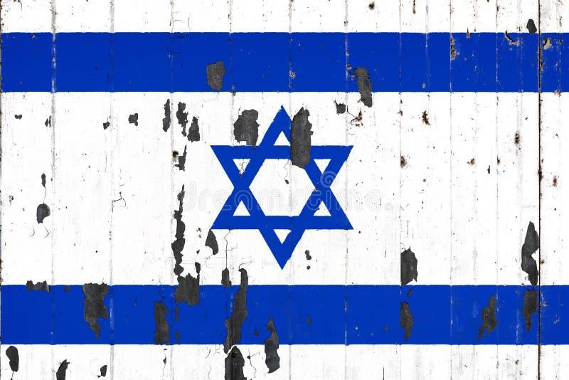 Национальный флаг Израиля на предпосылке иллюстрация вектора