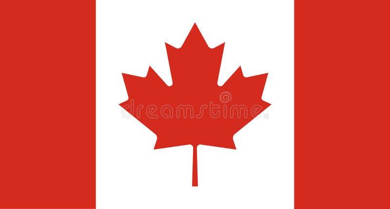 Национальный флаг Канады r ottawa иллюстрация штока