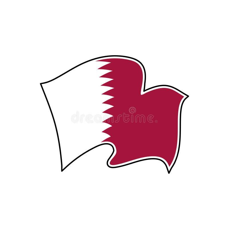 Национальный флаг Катара r Al Adaam иллюстрация вектора