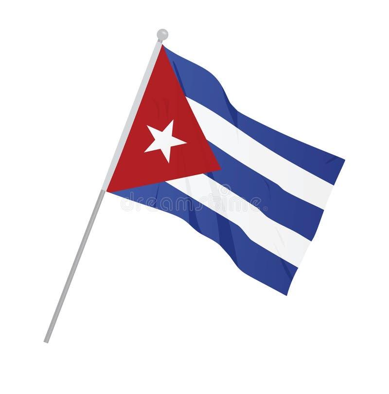 Национальный флаг Кубы иллюстрация вектора