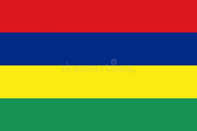 Национальный флаг Маврикия Предпосылка с флагом Маврикия бесплатная иллюстрация