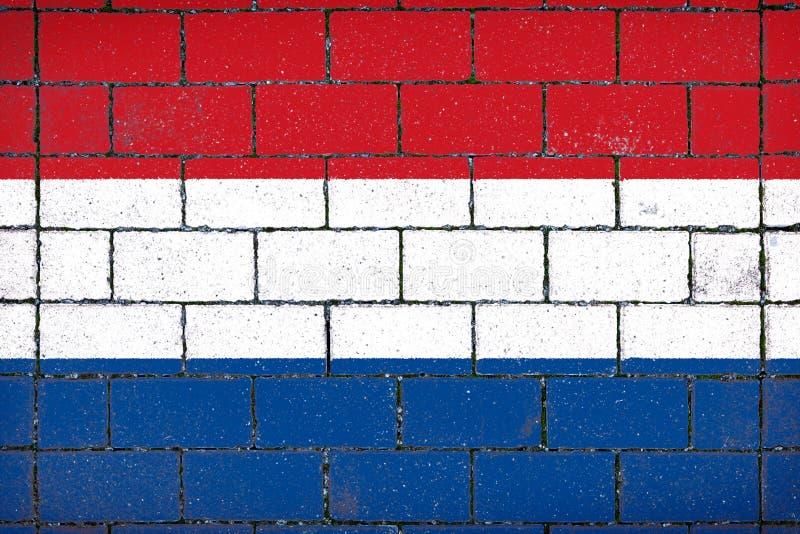 Национальный флаг Нидерландов стоковая фотография