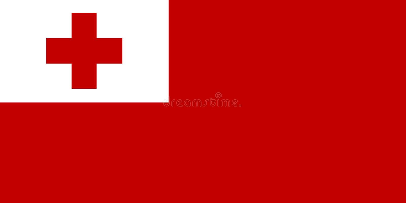 Национальный флаг предпосылки Тонги с флагом Тонги иллюстрация штока