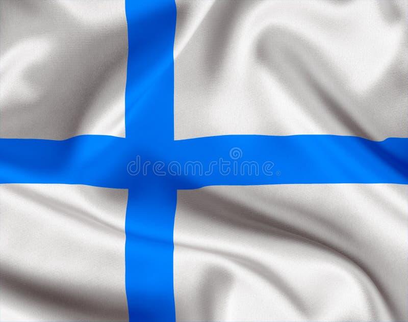 Национальный флаг Финляндии бесплатная иллюстрация