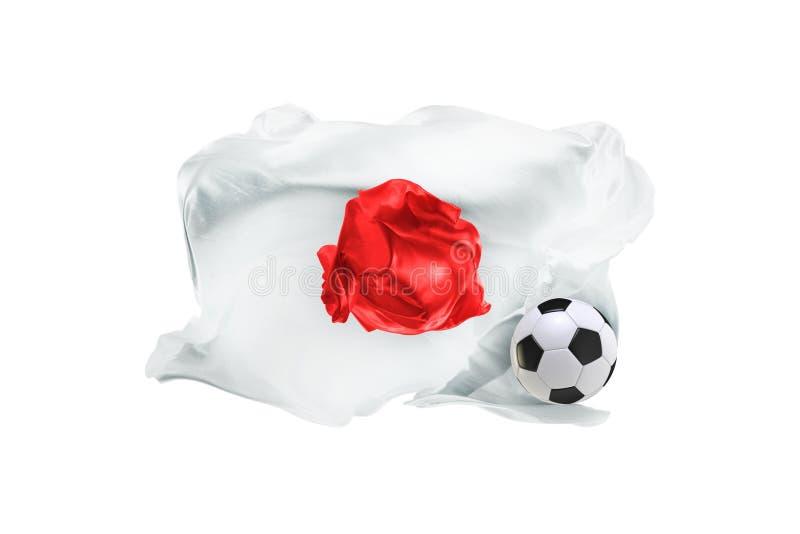 Национальный флаг Японии Кубок мира ФИФА Россия 2018 стоковые изображения rf