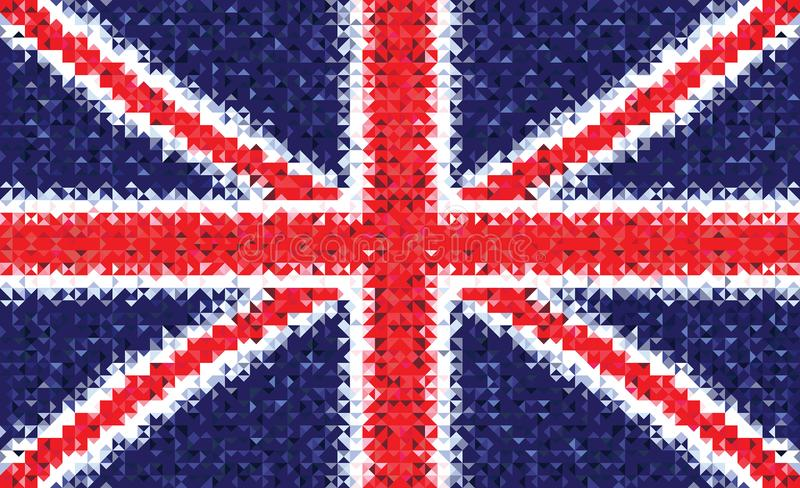 Национальный флаг United Kingdom of Great Britain and Northern Ireland иллюстрация вектора