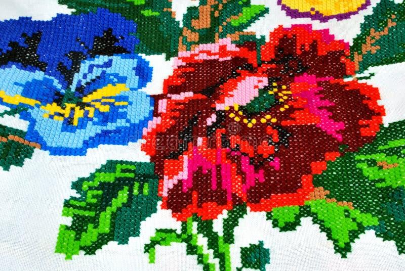 Национальная деталь полотенца стоковые фото