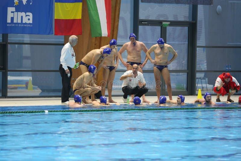 Национальная команда водного поло Венгрии стоковое фото rf