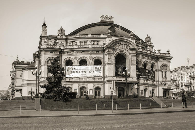 Национальная опера Украины в Kyiv, Украине стоковое фото