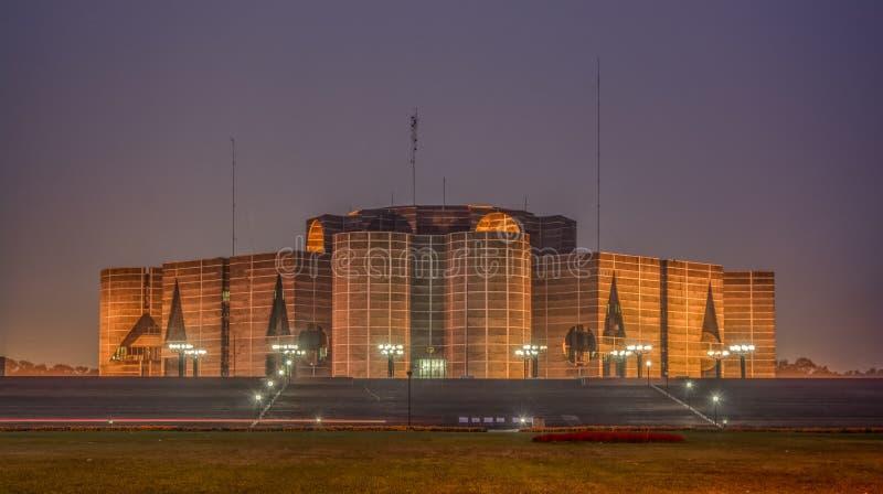 Национальное собрание Бангладеша, Дакка стоковые фотографии rf