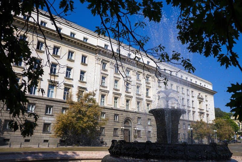 Национальное собрание Болгарии в Софии стоковая фотография rf