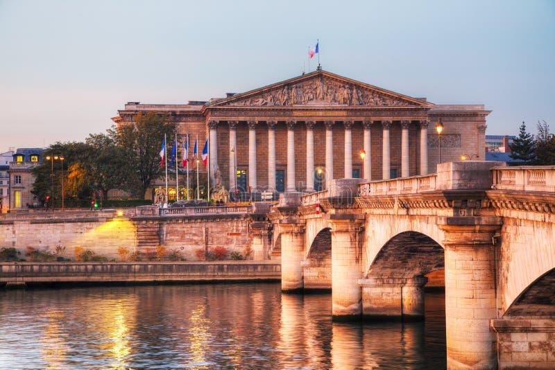 Национальное собрание Assemblee Nationale в Париже, Франции стоковое фото rf