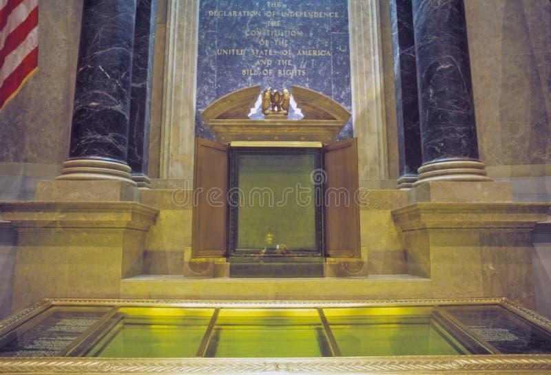 Национальные архивы, дом конституции, Вашингтон, DC стоковые фотографии rf