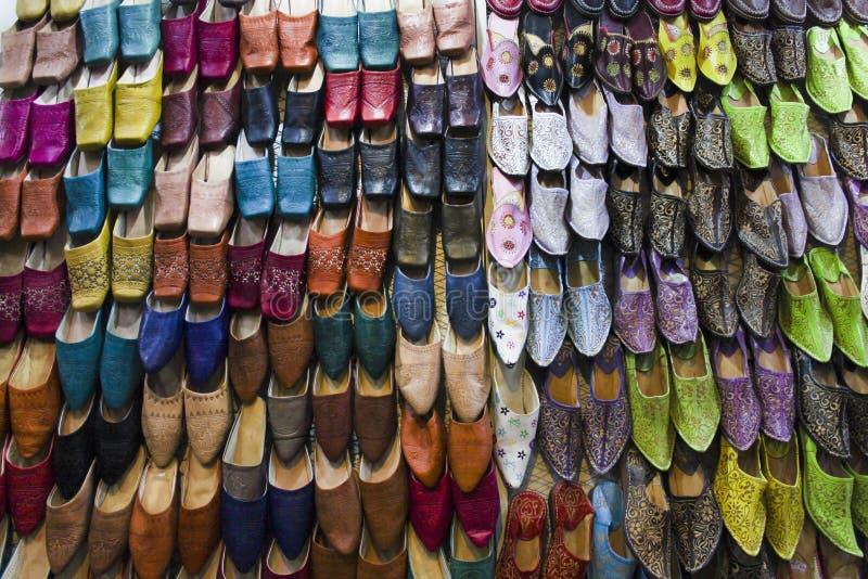 Национальные ботинки в Марокко стоковое фото