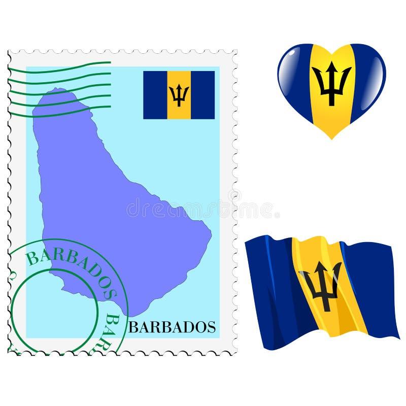 Национальные цвета Барбадос бесплатная иллюстрация
