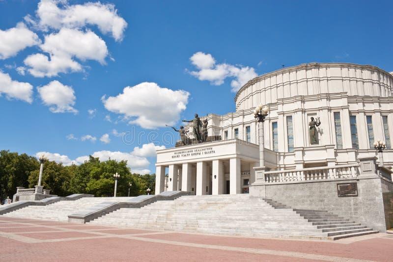 Национальный академичный театр оперы и балета Беларуси стоковые фото