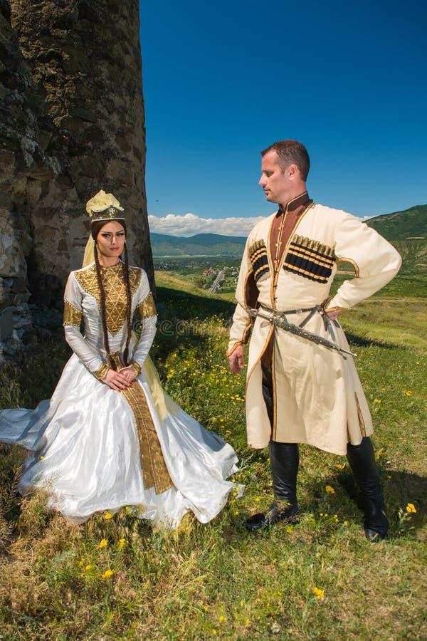 Национальный ансамбль песни и танца Georgia Erisioni стоковое изображение rf