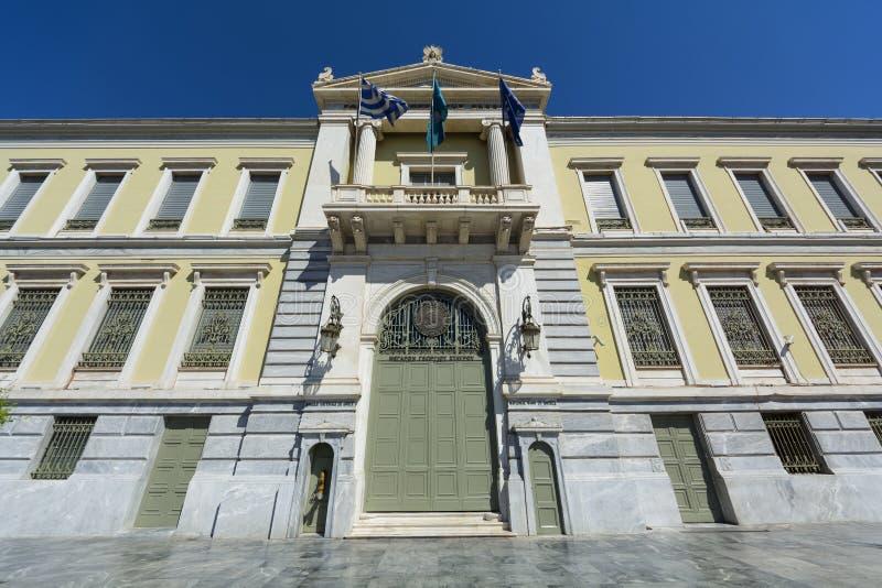 Национальный банк Греции стоковые изображения