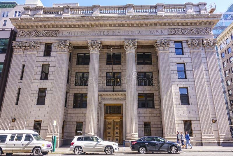 Национальный банк Соединенных Штатов в Портленде - ПОРТЛЕНДЕ/ОРЕГОНЕ - 15-ое апреля 2017 стоковые изображения