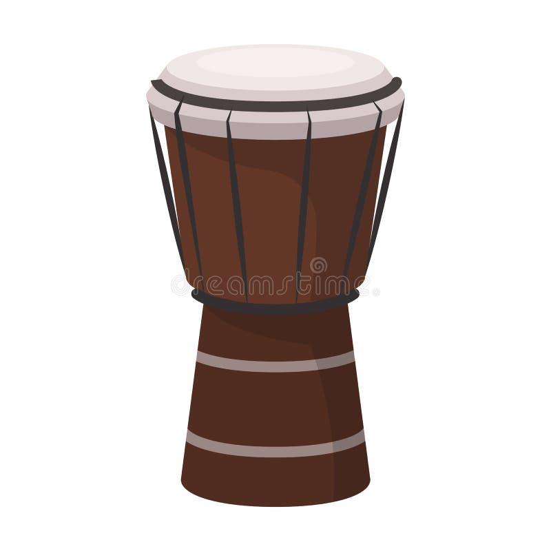Национальный бразильский значок барабанчика в стиле шаржа на белой предпосылке Вектор запаса символа страны Бразилии иллюстрация вектора