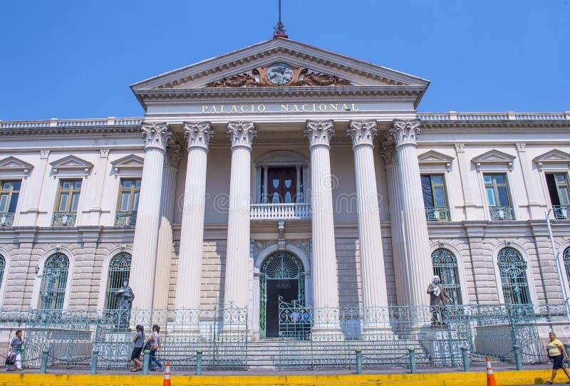 Национальный дворец в Сан-Сальвадоре стоковое изображение