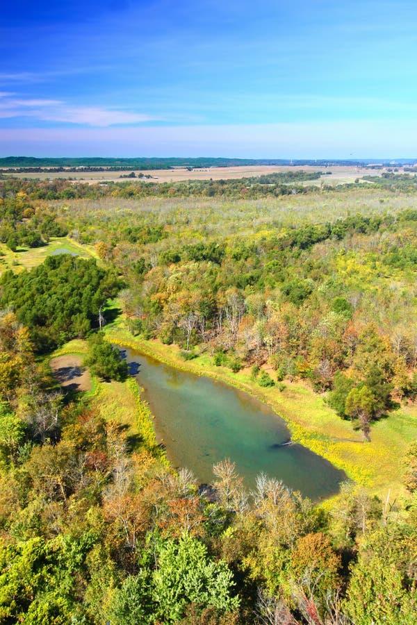 Национальный лес Иллинойс Shawnee стоковые фото