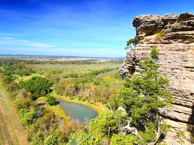 Национальный лес Иллинойс Shawnee стоковое изображение rf