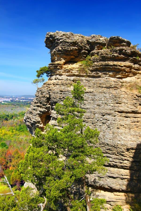 Национальный лес Shawnee пункта воодушевленности стоковое фото