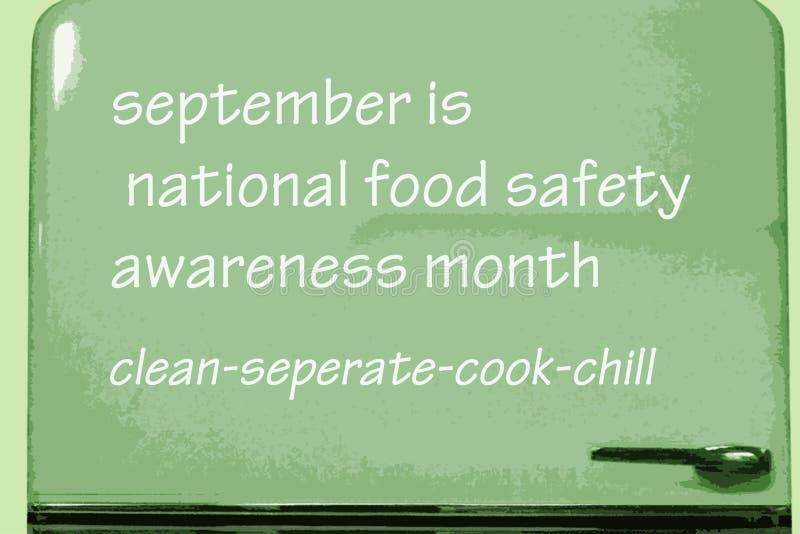 Национальный месяц осведомленности продовольственной безопасности иллюстрация штока