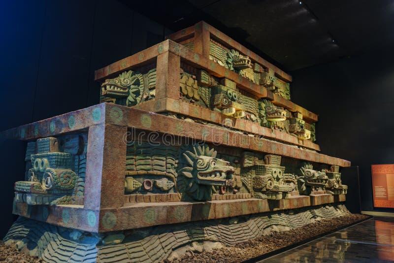 Национальный музей антропологии (Museo Nacional de Antropologia, стоковое изображение