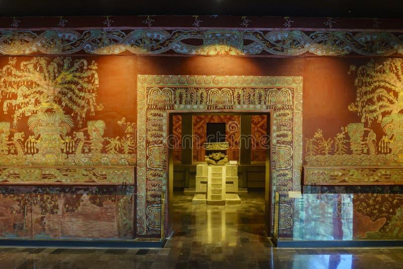 Национальный музей антропологии (Museo Nacional de Antropologia, стоковое изображение rf