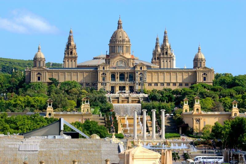 Национальный музей изобразительных искусств Каталонии в Барселоне, Испании стоковое изображение