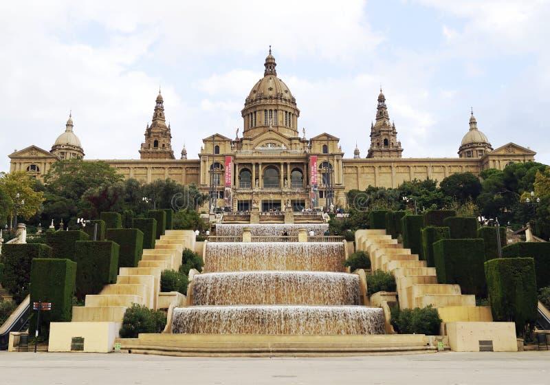 Национальный музей изобразительных искусств Каталонии в Барселоне, Испании стоковые фотографии rf