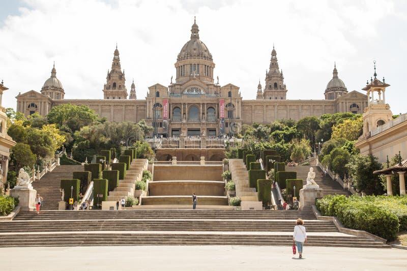 Национальный музей изобразительных искусств Catalunya, Барселоны стоковая фотография rf