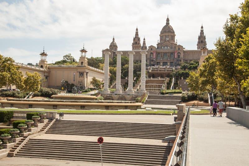 Национальный музей изобразительных искусств Catalunya, Барселоны стоковые фотографии rf