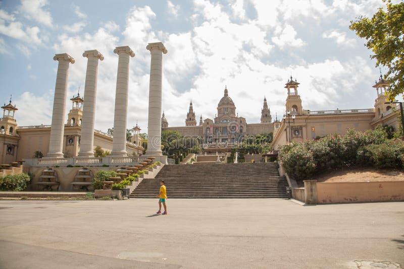 Национальный музей изобразительных искусств Catalunya, Барселоны стоковое фото